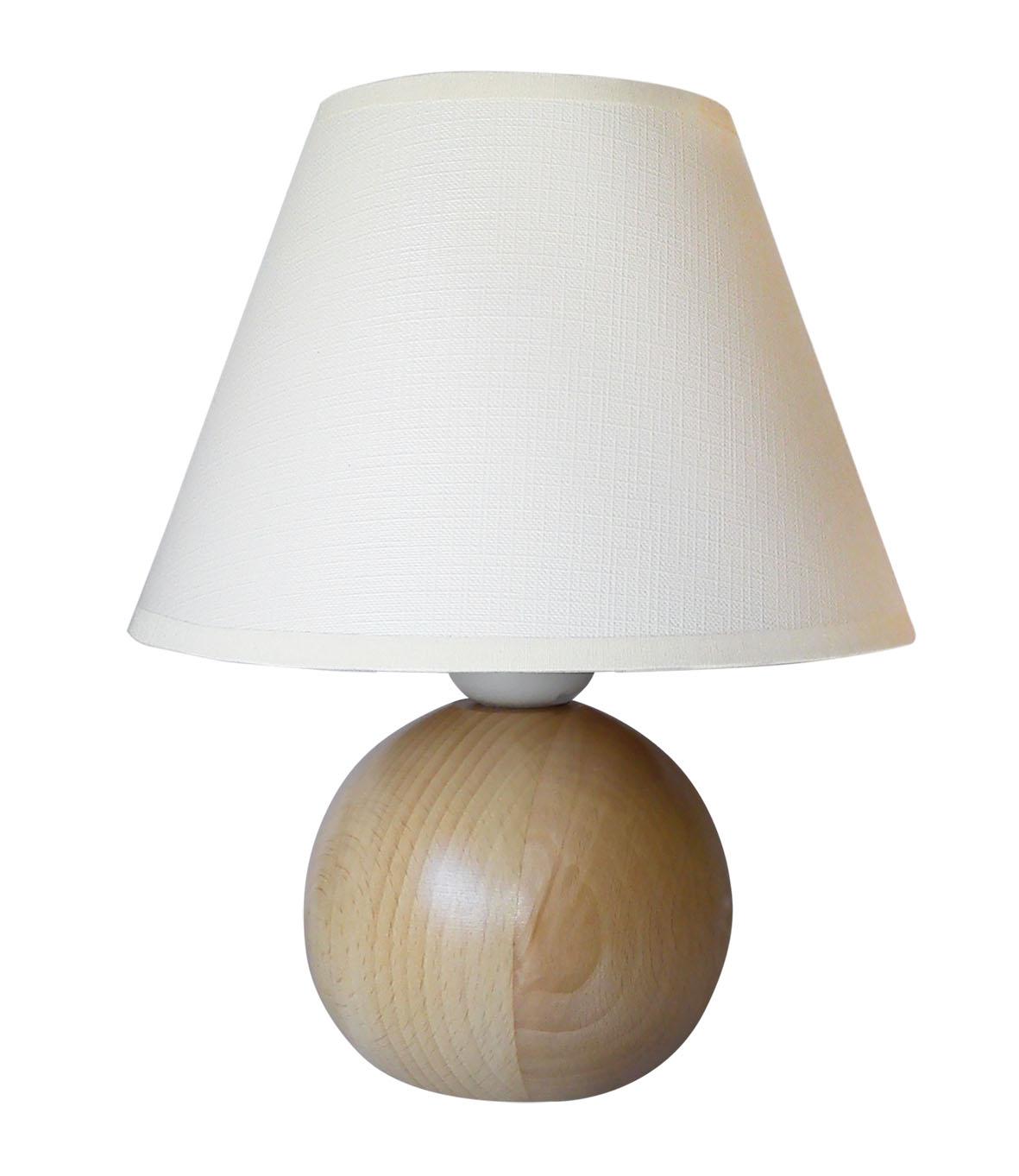 Stolná lampa Sandria drevo-guľa svetlé drevo