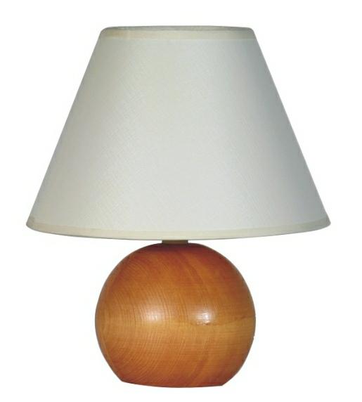 Stolná lampa drevo-gula stredné drevo