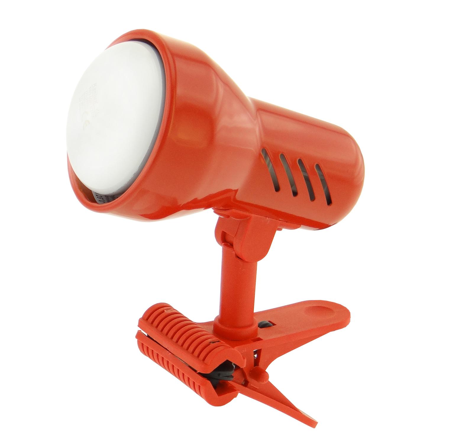 Lampička s klipem E14 malá červená