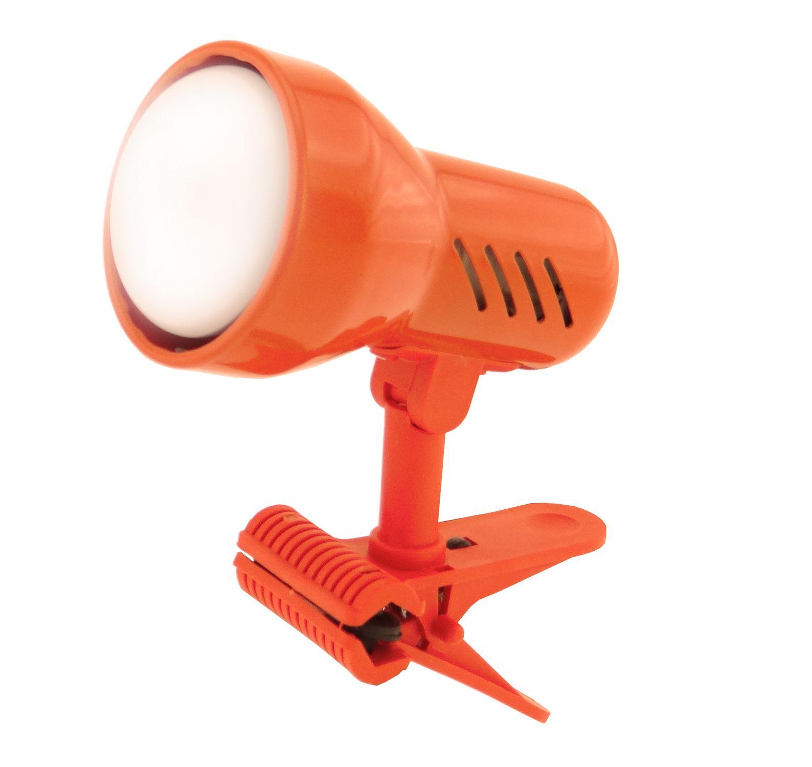 Lampička s klipem E14 velká oranžová